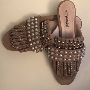 Jeffrey Campbell Pearl Beaded Slides